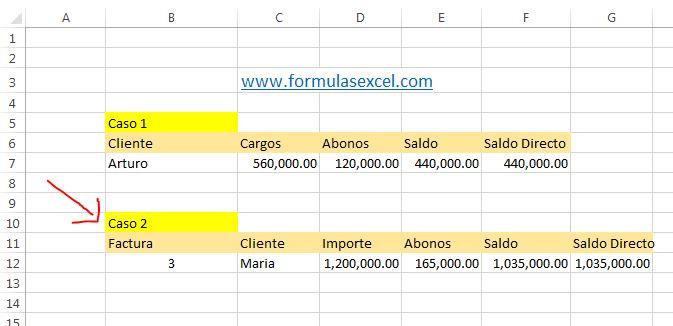 calcular saldo de clientes - calculo por factura