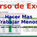 Curso de Excel parte 7 – Cálculos con semanas