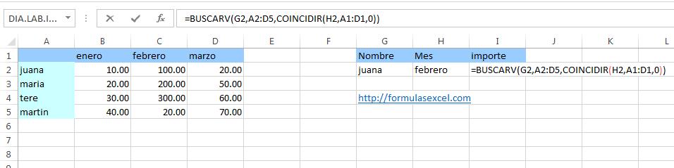 7 formulas excel - busqueda 2 condiciones