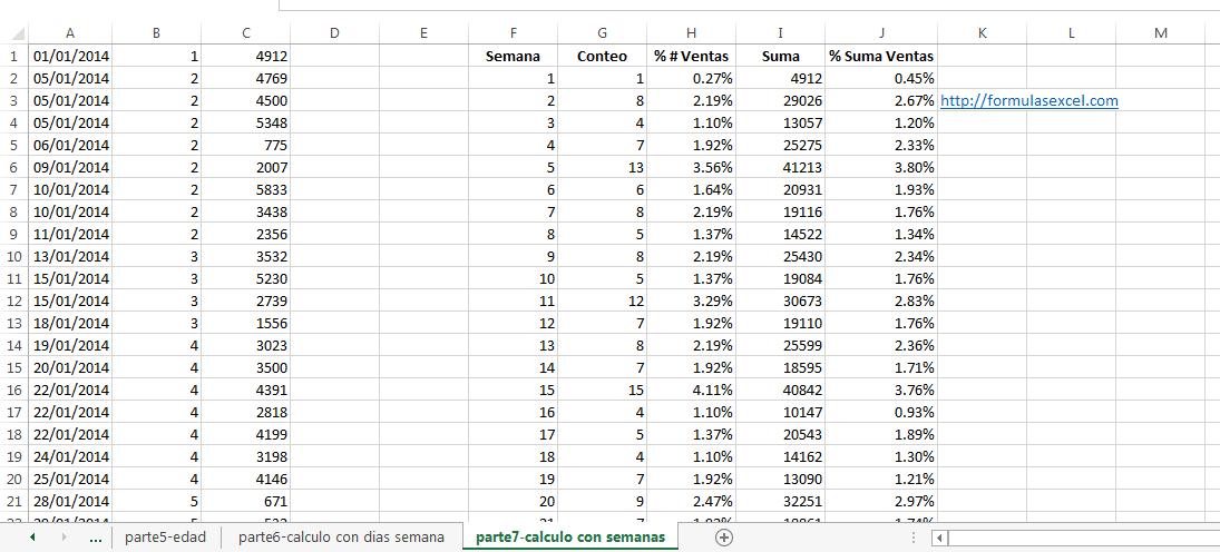 curso excel parte 7 - calculo con semanas