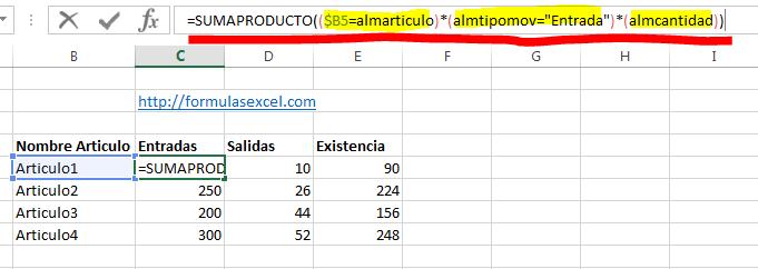 curso excel parte 12 - formula suma entradas