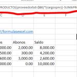 Curso de Excel parte 13 – Calcular Saldo de Proveedores