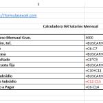 Formulas Excel para calcular isr de salarios