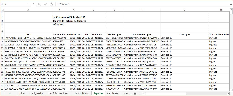 CFDIControl - Reporte CFDI