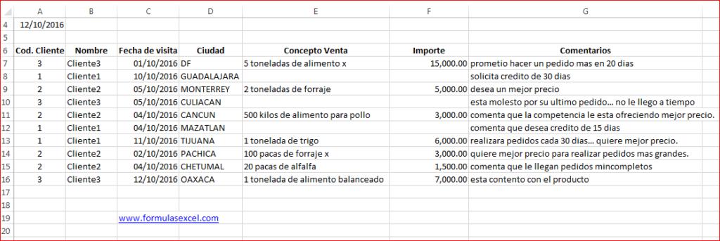 formula excel para seguimiento de clientes formulas excel