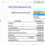 Escenarios en Excel – Calculo de Utilidad