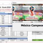 Mundial de Fútbol en Excel – Rusia 2018