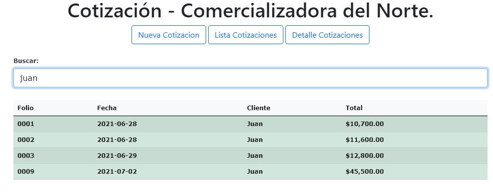 web app con google sheets - Consultar lista de cotizaciones
